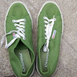 Green Superga Sneakers